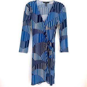 BCBGMaxAzria Adele Wrap 2/3 Sleeve Wrap Dress XS
